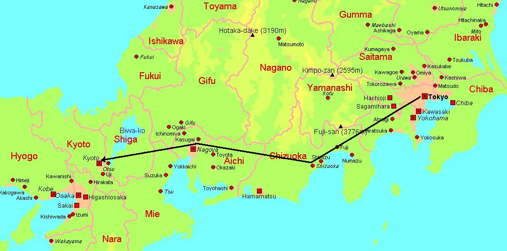 Japan Karte.Japan Vacation